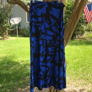 Career Maxi Skirt in Royal Blue and Black